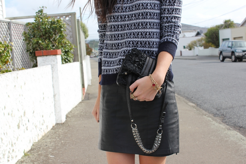 phillip lim floral silk bag ALC hamilton anchor leather skirt fashion blog mademoiselle wellington