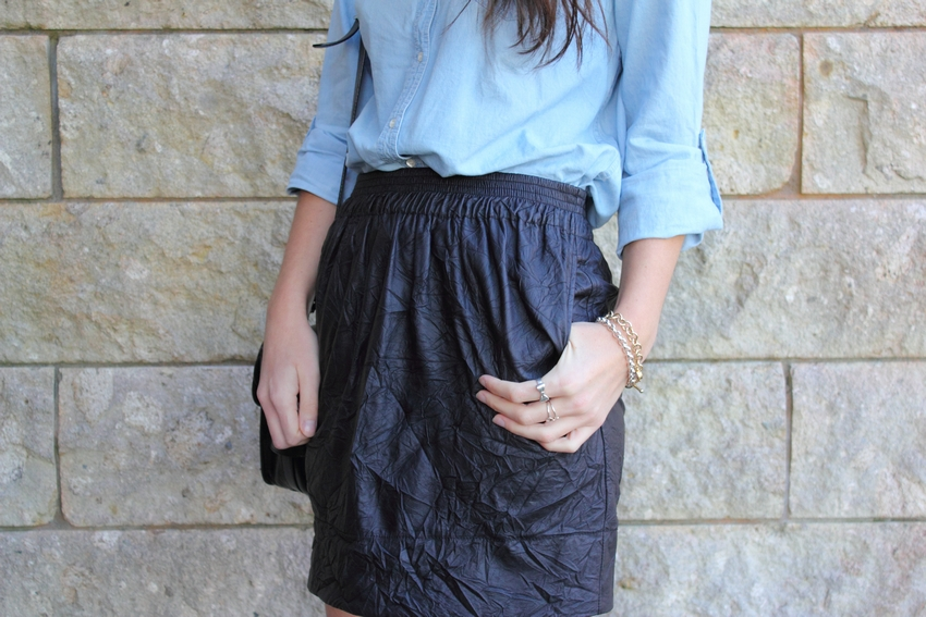 chambray shirt karen walker skirt proenza schouler ps11 fashion blog