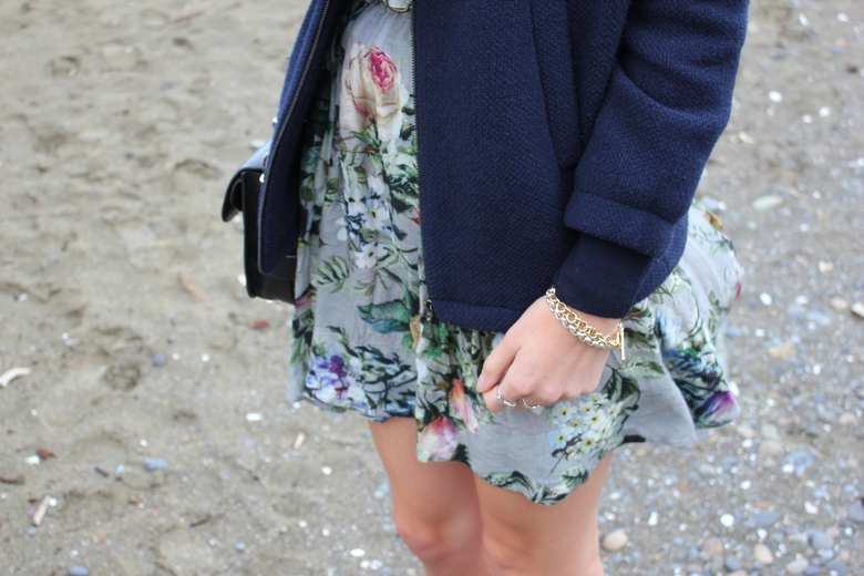 karen walker floral skirt zara bomber jacket fashion blog