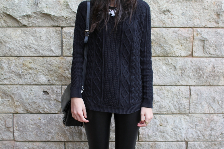 witchery leather leggings cable knit new zealand fashion blog