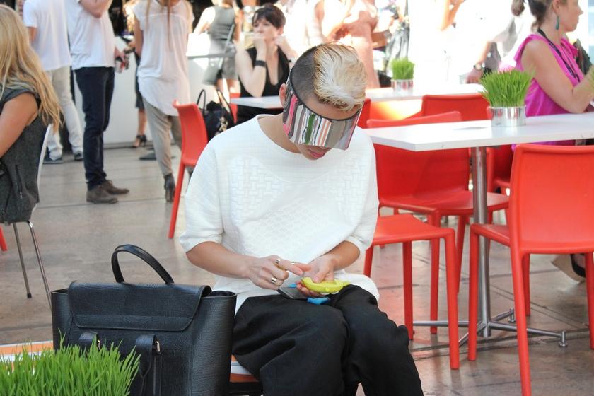 streetstyle alexander mcqueen visor MBFWA fashion week