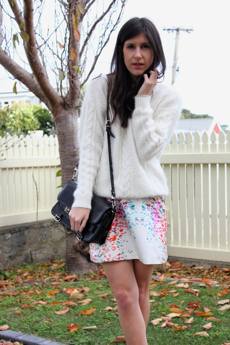 lover the label cable knit mohair josh goot reef skirt