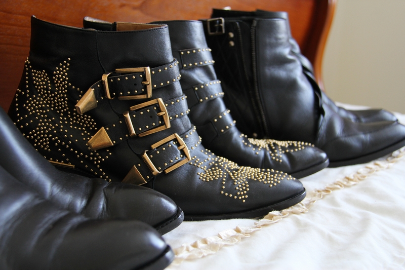 chloe susanna studded boots shoes