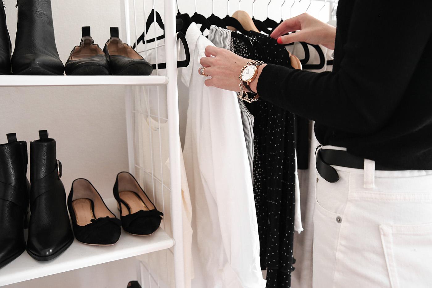 capsule wardrobe style uniform minimal closet