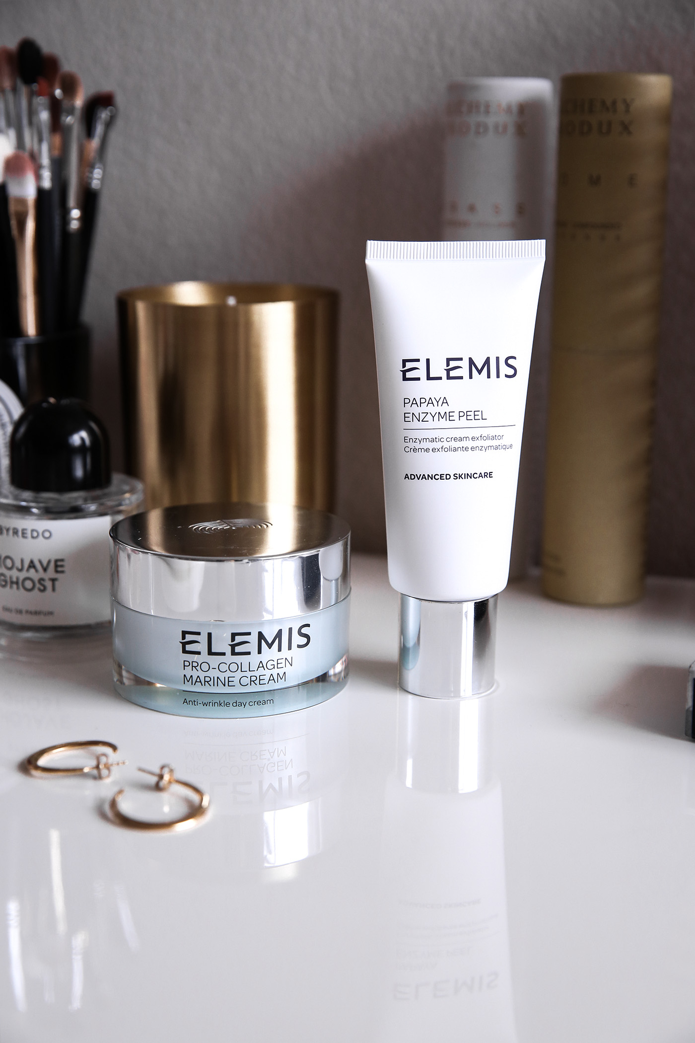 elemis papaya enzyme peel and pro-collagen marine cream review