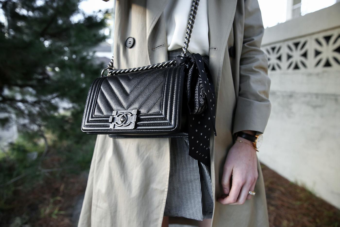 minimal wardrobe houndstooth skirt mademoiselle