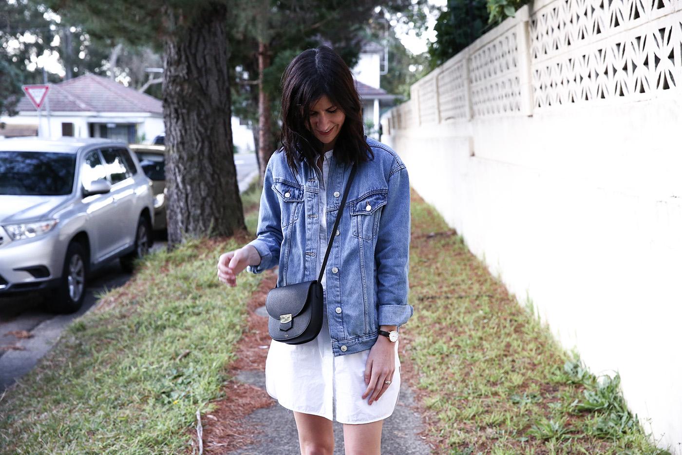 spring wardrobe essential denim jacket mademoiselle minimal outfit