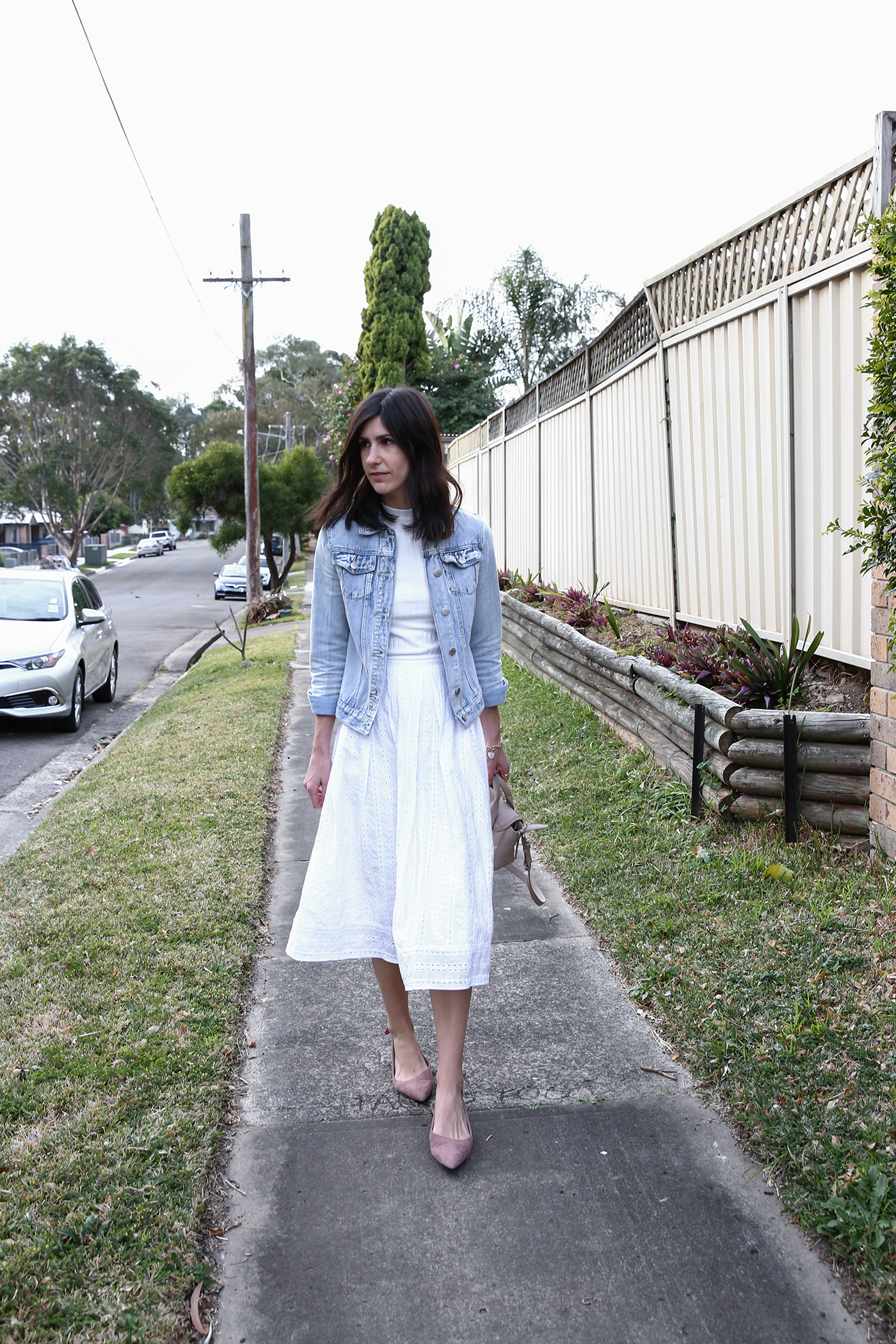 spring wardrobe essential midi skirt minimal mademoiselle