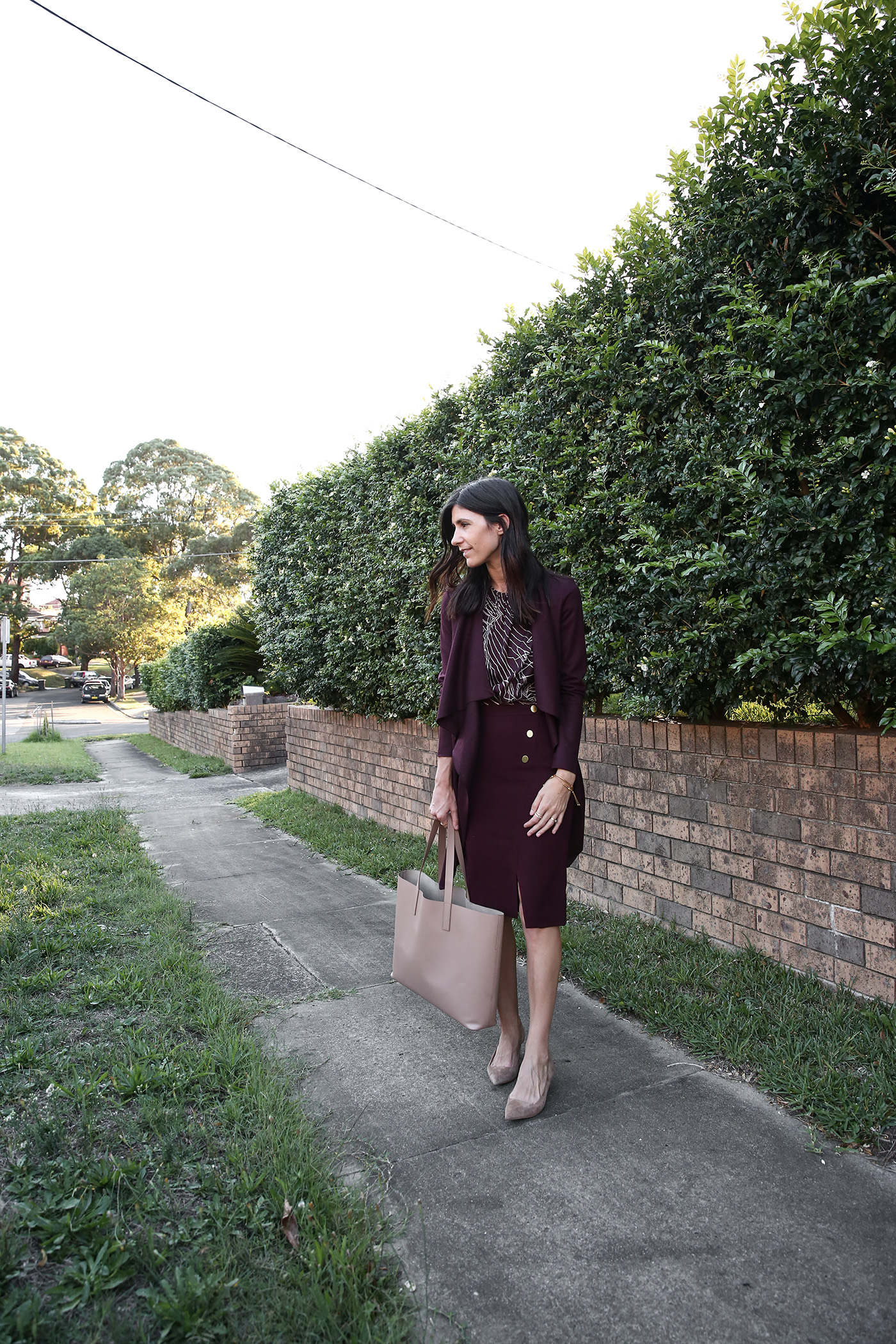 professional corporate office workwear outfit