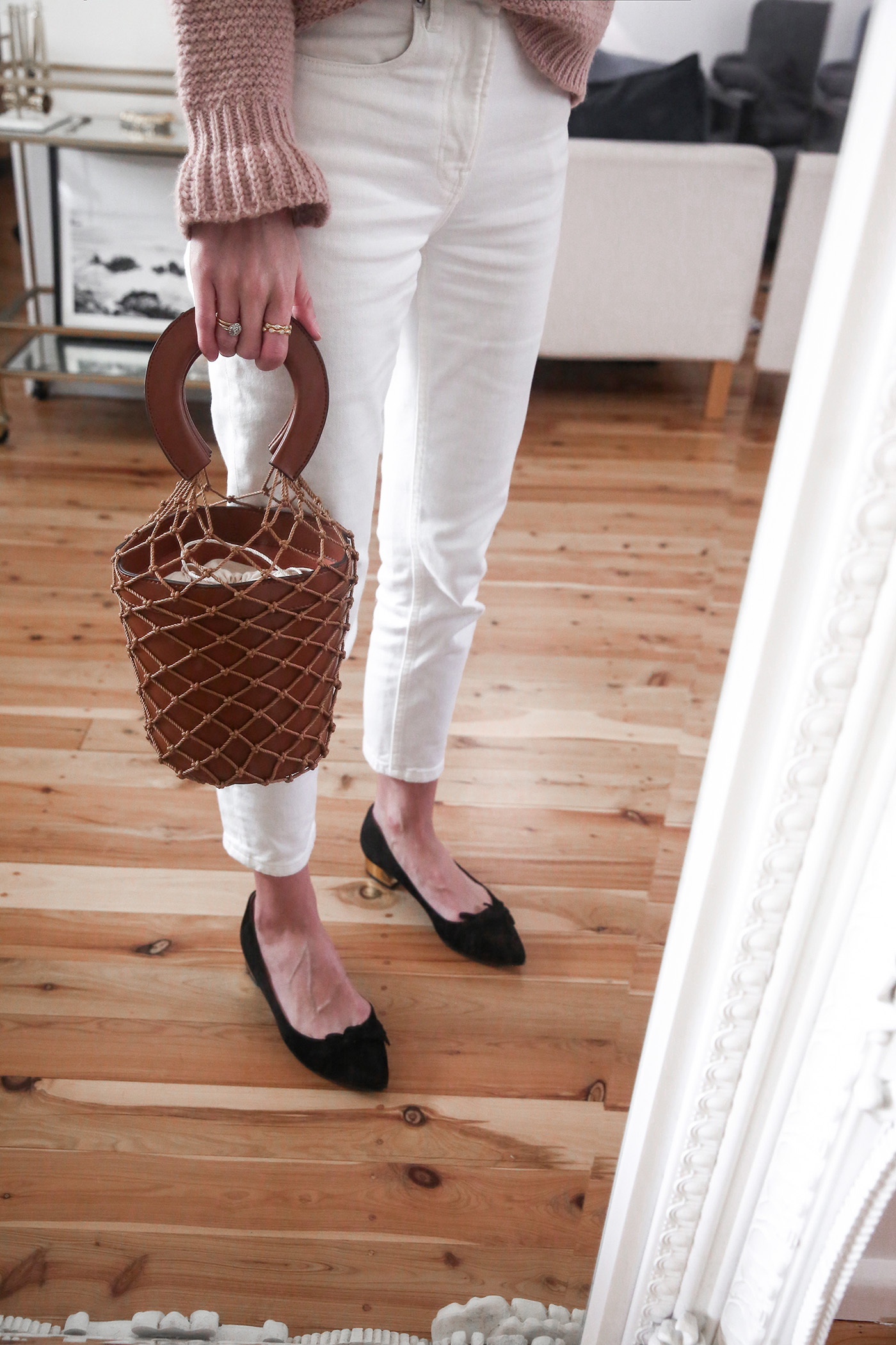 56b0bd1fe Staud Moreau Bucket Bag Dupe for under $100! | Mademoiselle | A ...