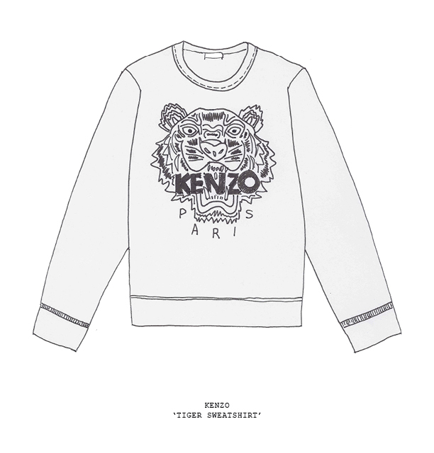 sketch kenzo tiger sweater