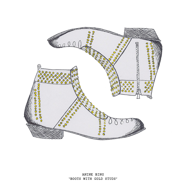 sketch anine bing studded booties