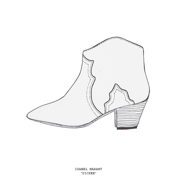 sketch isabel marant dicker boot