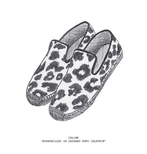 sketch celine leopard espadrilles