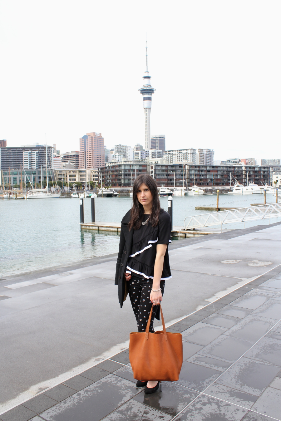 NZFW streetstyle ruby charlie jeans karen walker docker slanting frill top