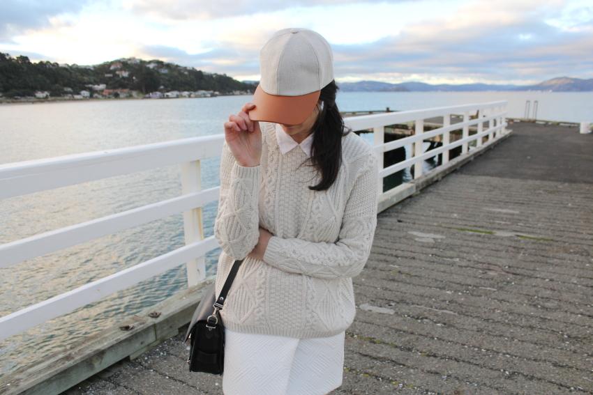 topshop cable knit asos skirt kate sylvester baseball cap