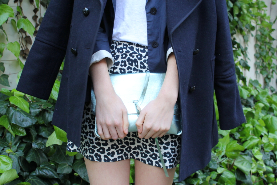 navy gillian tennant leopard skirt