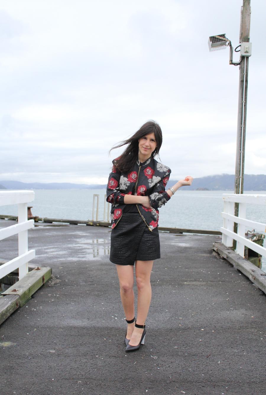 boohoo floral bomber jacket