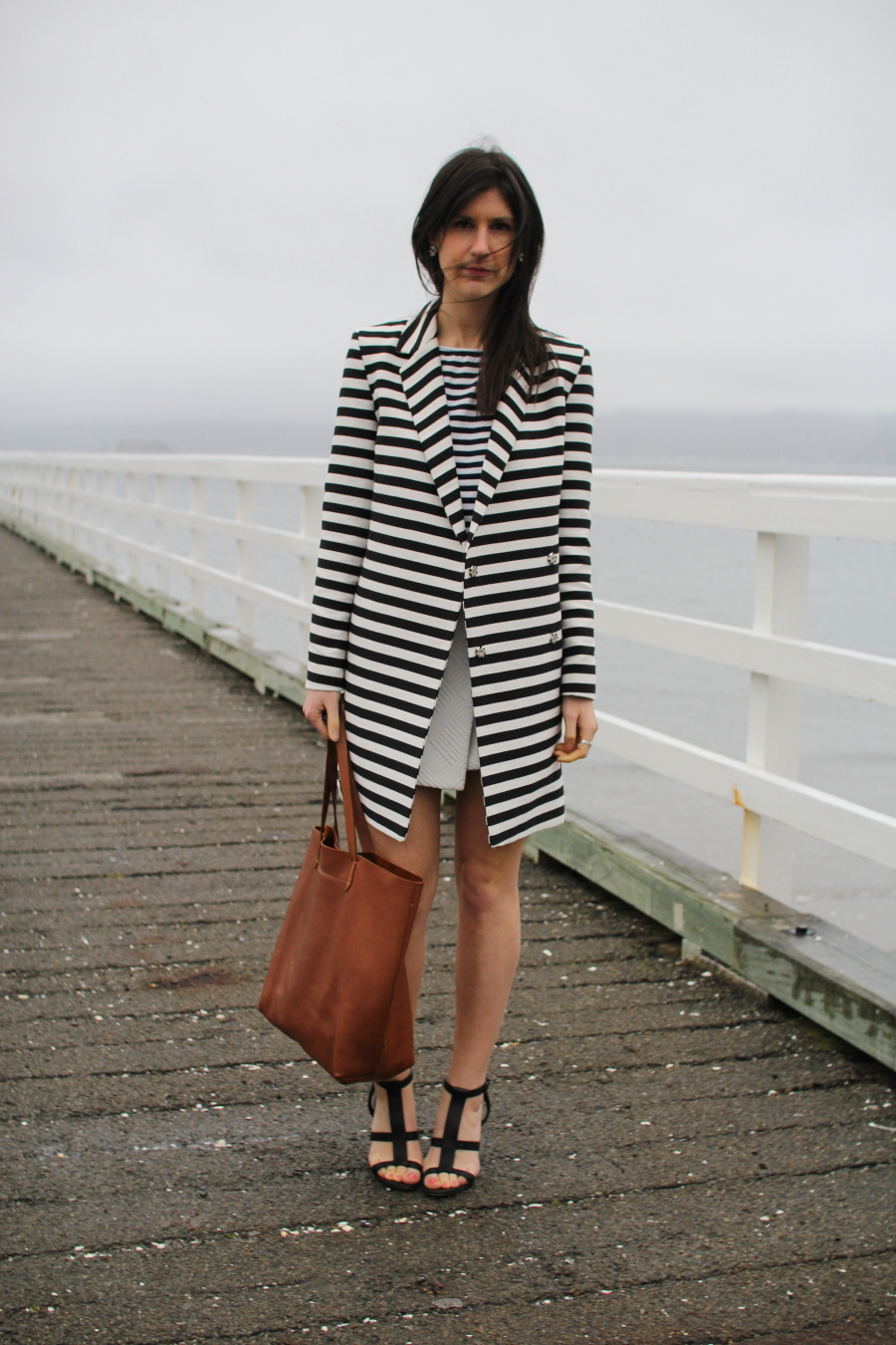 asos ovoid stripe coat