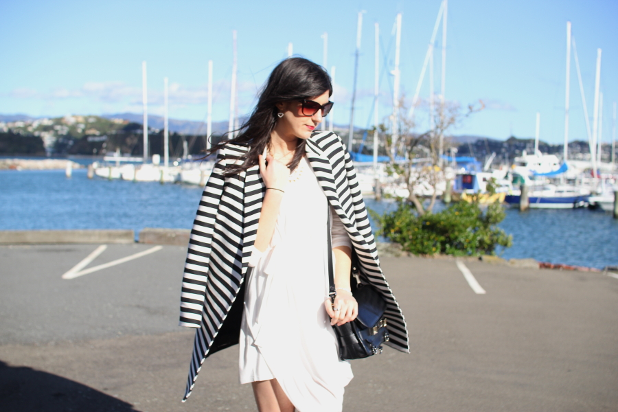 kirrily johnston drape dress asos stripe coat