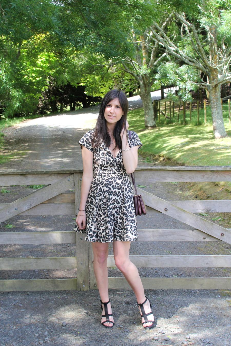 lover label susien chong malibu leopard mini dress