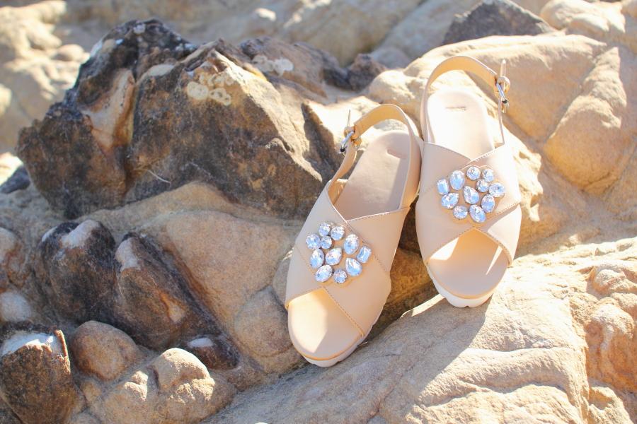 ASOS franco flat gem embellished sandals shoes