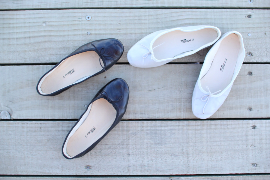 porselli leather ballet flat