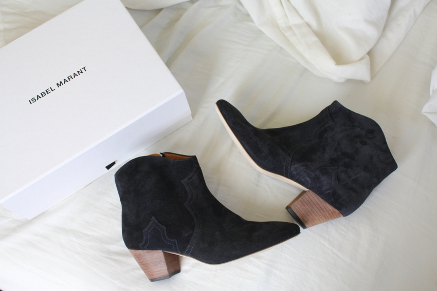 isabel marant anthracite dicker boots