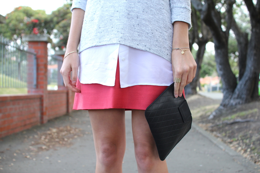 j crew skirt kate of arcadia clutch