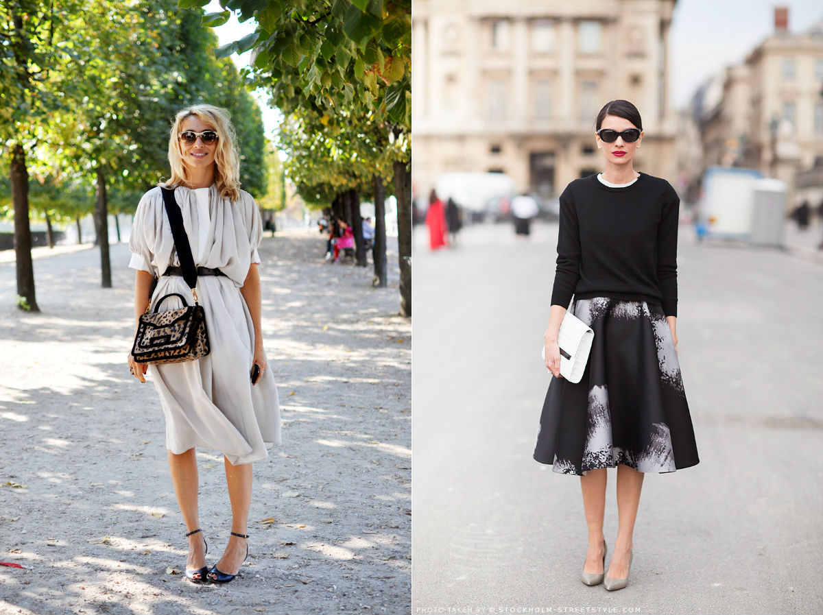 winter wardrobe street style midi skirts