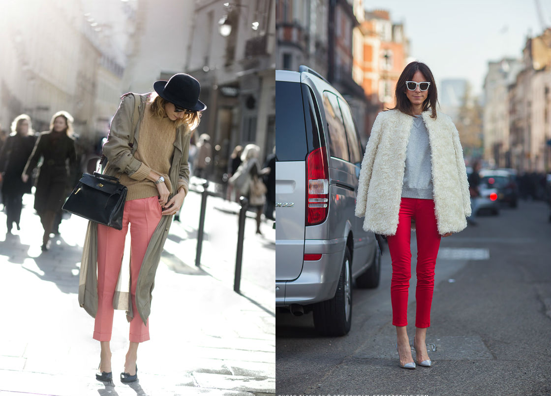 winter wardrobe street style cropped trousers