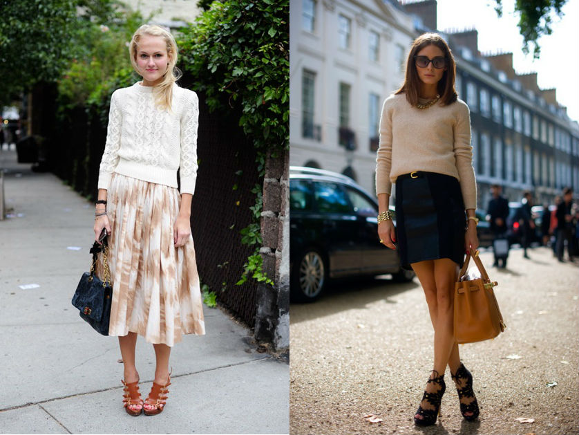 winter wardrobe street style shrunken knit sweaters