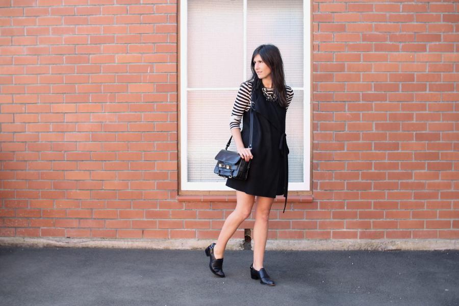 proenza schouler stripe karen walker jerkin dress