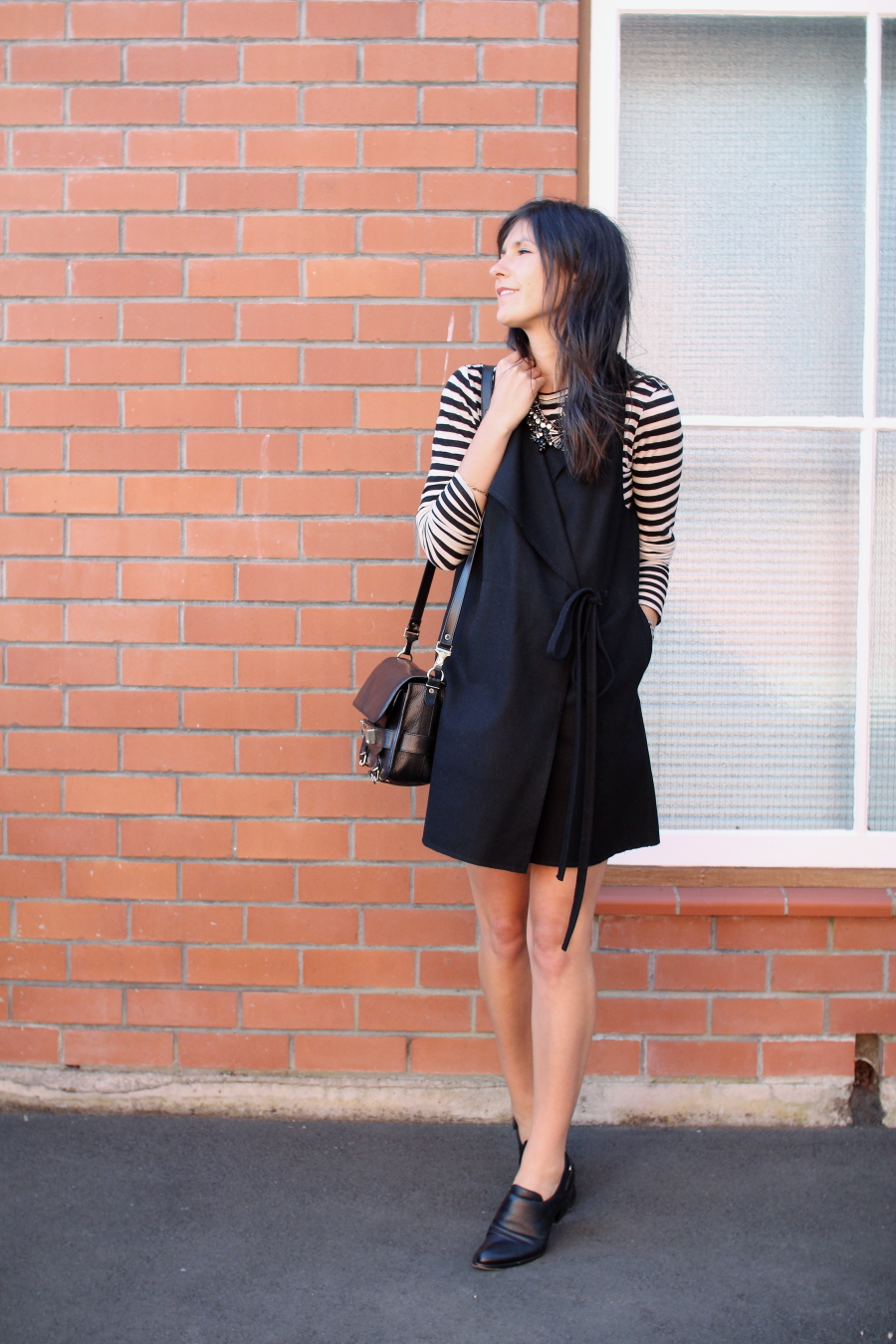 proenza schouler stripe karen walker jerkin dress