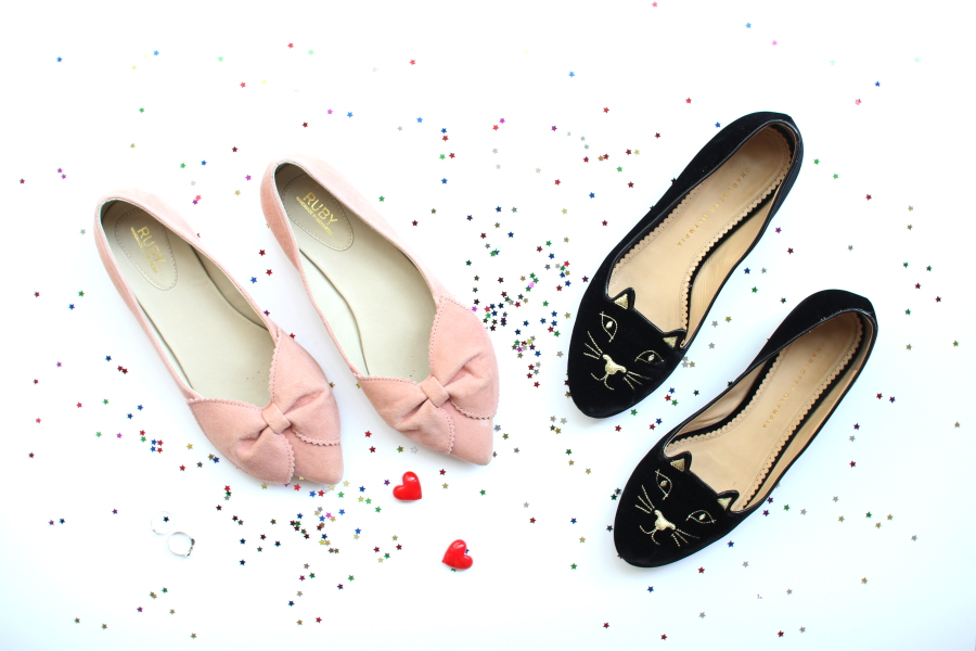 RUBY kingsley bow flats charlotte olympia velvet kitty