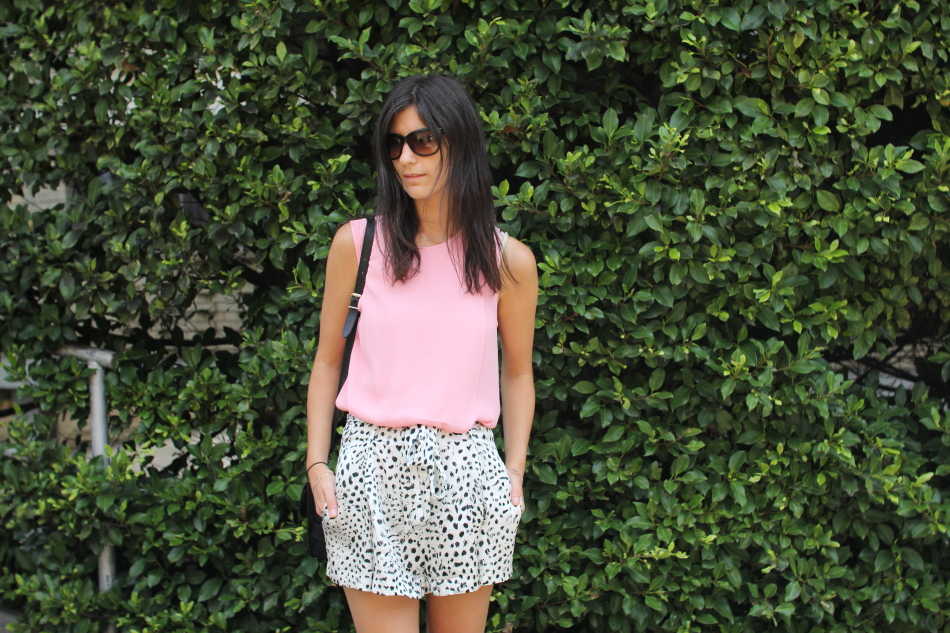 witchery pink top lover leopard cheetah shorts