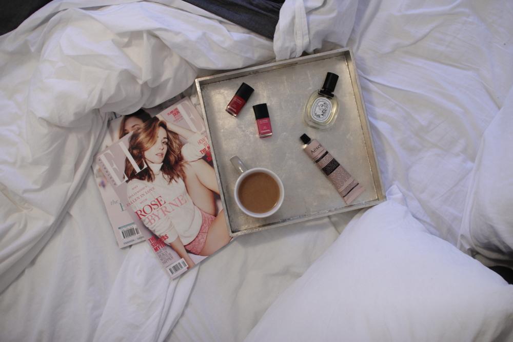 sunday morning bed elle magazine chanel le vernix