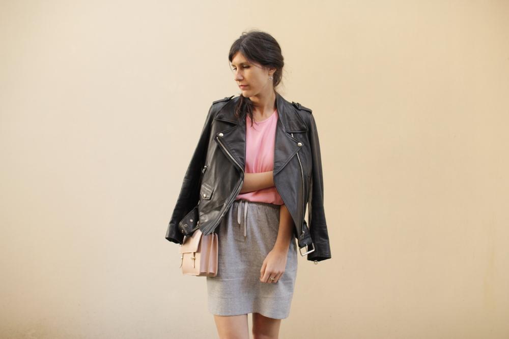 acne mape leather jacket karen walker benah