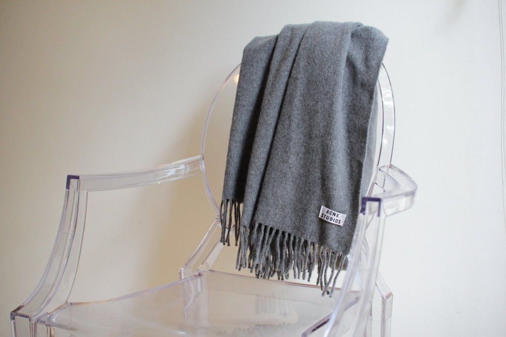 Acne Studios canada scarf ghost chair