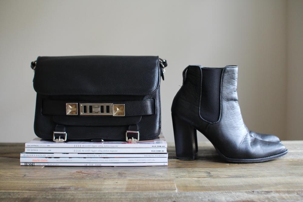 Zimmermann black boots Proenza Schouler PS11