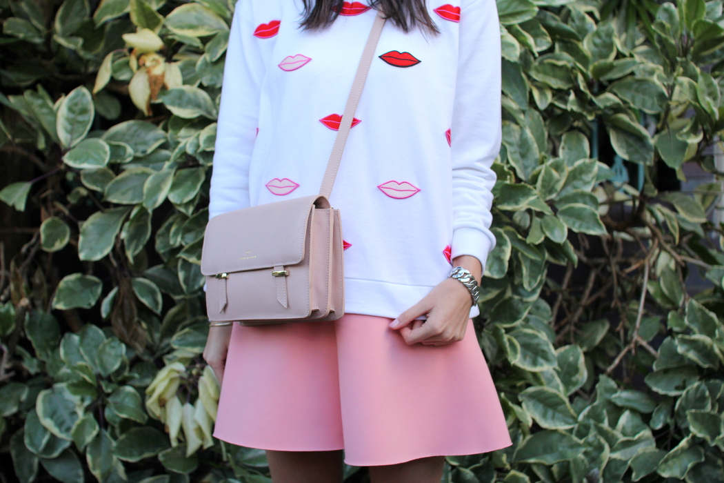 stella mccartney lips sweatshirt karen walker benah satchel