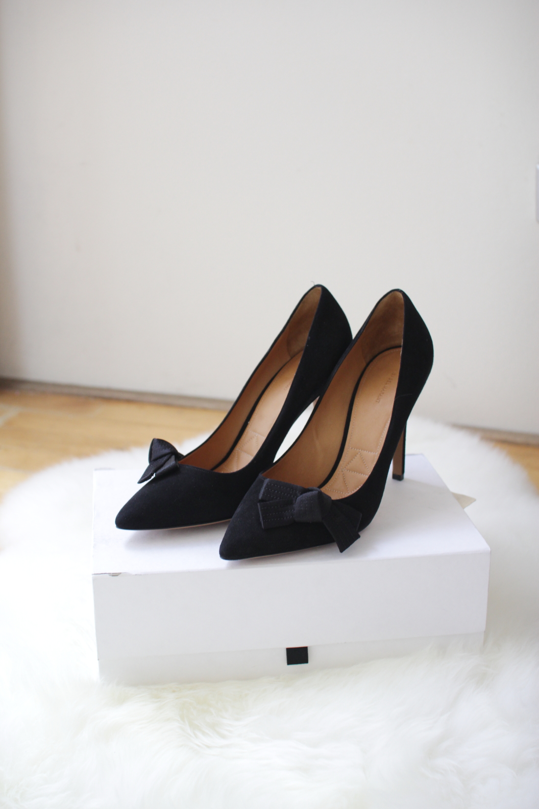 isabel marant black suede poppy ribbon heels shoes