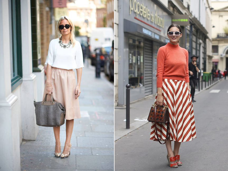 work uniform lady like midi skirt