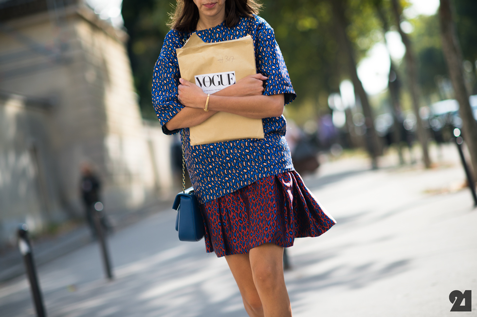 fashion mixed prints leopard street style