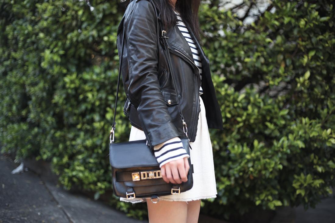alexander wang stripe acne mape leather jacket ps11