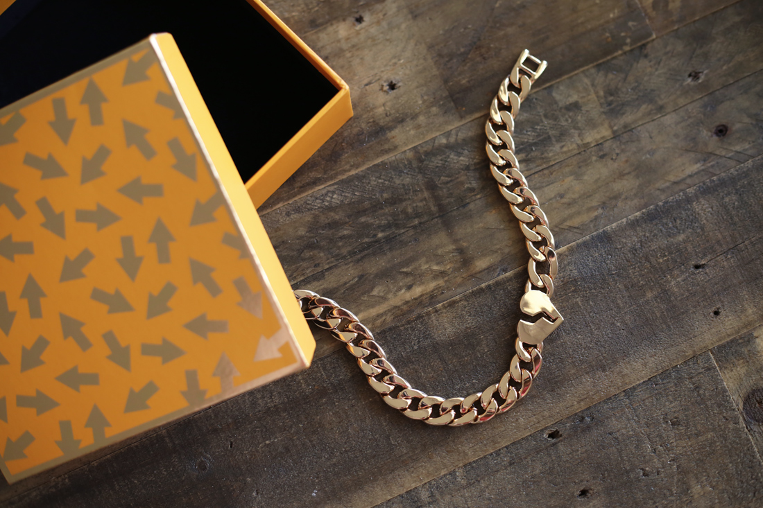 karen walker giveaway broken hearts gold necklace
