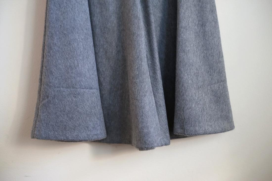 ASOS grey wool a-line midi skirt