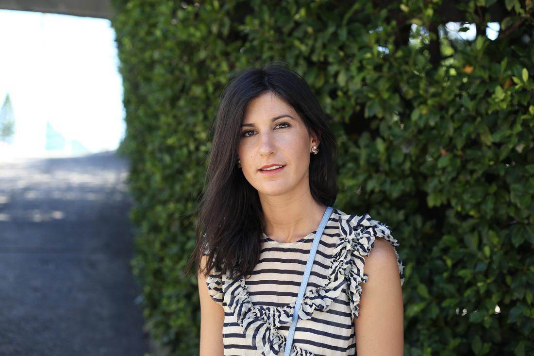 karen walker stripe ruffle blouse celine trio lavender girl by band of outsiders