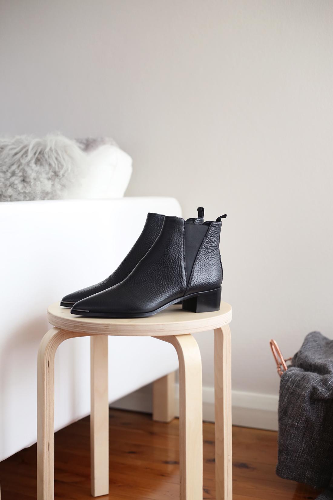acne studios jensen boots grained leather