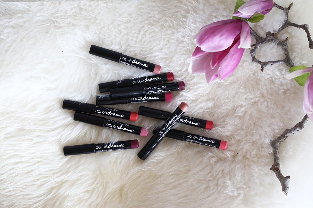 maybelline color drama lip pencils